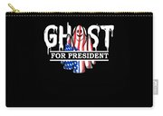 Ghost Elected Cute Halloween Spirit In American Flag Dark Carry-all Pouch
