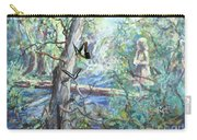 Girl And Butterflies Far North Queensland Rainforest Carry-all Pouch by Ryn Shell