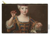 'girl With A Bird Cage'. Ca. 1712. Oil On Canvas. Carry-all Pouch