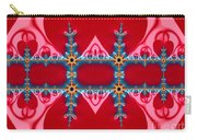 Gods Love And Mercy Is Infinite Fractal Abstract Hearts Carry-all Pouch by Rose Santuci-Sofranko