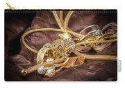 Gold Jewelry Close Up Carry-all Pouch