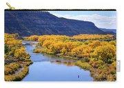 Golden Autumn Trees San Juan River Landscape Carry-all Pouch