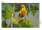 Golden Parakeet In Papaya Tree Carry-all Pouch