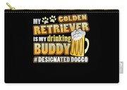 Golden Retriever Drinking Buddy Hashtag Designated Doggo Carry-all Pouch
