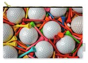 Golf Balls And Colorful Tees Carry-all Pouch