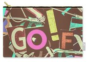 Golfing Print Press Carry-all Pouch