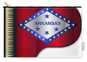 Grand Piano Arkansas Flag Carry-all Pouch