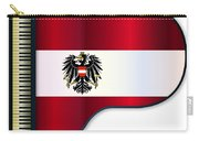 Grand Piano Austrian Flag Carry-all Pouch