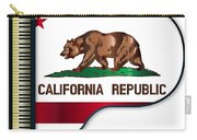 Grand Piano California Flag Carry-all Pouch