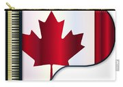 Grand Piano Canadian Flag Carry-all Pouch