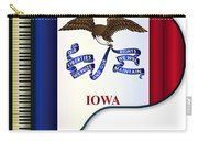 Grand Piano Iowa Flag Carry-all Pouch