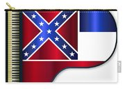 Grand Piano Mississippi Flag Carry-all Pouch
