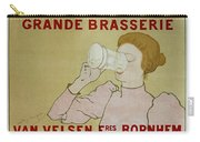Grande Brasserie, 1894 Belgian Vintage Brewery Poster Carry-all Pouch