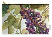 Watercolor Of A Grapevine Carry-all Pouch by Greta Corens