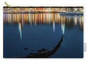 Gray Wolf Shipwreck And Stockholm Gamla Stan Fantastic Reflection In The Baltic Sea  Carry-all Pouch