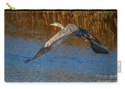 Great Blue Fly Away Carry-all Pouch by Tom Claud