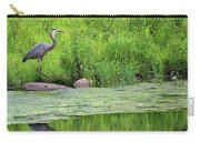 Great Blue Heron Square Carry-all Pouch
