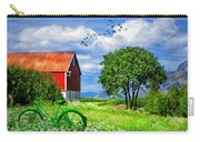 Green Bike On The Farm Carry-all Pouch