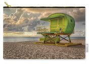 Green Lifeguard Stand Carry-all Pouch by Alison Frank