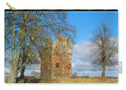 Greenknowe Tower In Winter Sun, Scottish Borders Carry-all Pouch