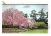Weeping Cherry And Tulips Carry-all Pouch
