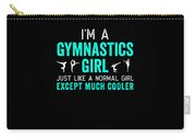 Gymnastics Im A Girl White Teal Gymnast Light Carry-all Pouch