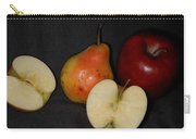 Half An Apple On Black Carry-all Pouch