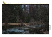 Half Dome Reflection Over Merced River At Sunset, Yosemite National Park  Carry-all Pouch