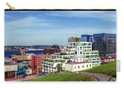 Halifax Town Clock And Halifax Skyline Carry-all Pouch