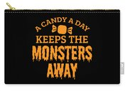 Halloween Shirt Candy A Day Keeps Monsters Away Gift Tee Carry-all Pouch