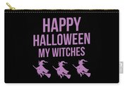 Halloween Shirt Happy Halloween Witches Gift Tee Carry-all Pouch