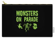 Halloween Shirt Monsters On Parade Green Gift Tee Carry-all Pouch