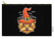 Halloween Shirt Witch Yorkshire Dog Costume Gift  Carry-all Pouch