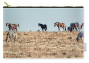 Hanging With Family And Friends - South Steens Wild Horses Carry-all Pouch by Belinda Greb