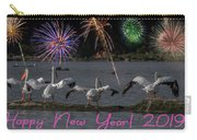 Happy New Year 2019 - Four Pelicans Carry-all Pouch