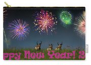 Happy New Year 2019 - Three Pronghorn Antelope Carry-all Pouch