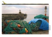 harbour pier and fishings nets at Pittenweem, Fife Carry-all Pouch