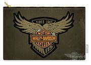 Harley Davidson Old Vintage Logo Fuel Tank Motorcycle Brown Background Carry-all Pouch