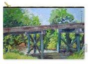 Harrison Park Bridge-ellijay River - Sun Peeking Under Carry-all Pouch