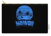 Hawaii Sunset Beach Vacation Paradise Island Blue Carry-all Pouch