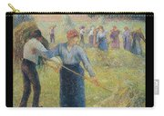 Haymaking At Eragny, 1891 Carry-all Pouch