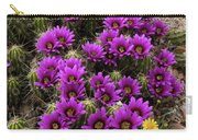 Hedgehog Cactus And Yellow Daisies Carry-all Pouch