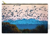 Herd Of Snow Geese In Flight, Soccoro Carry-all Pouch