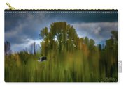 Heron Flying Abstract #h9 Carry-all Pouch