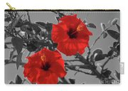 Hibiscus Selective Color Carry-all Pouch