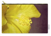 Hibiscus Yellow Carry-all Pouch by Carolyn Marshall