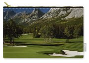 High Angle View Of A Golf Course, Mt Carry-all Pouch