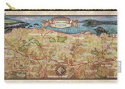 Hiking Map El Camino Spain Map Custom Map Art Carry-all Pouch