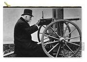 Hiram Maxim Firing His Maxim Machine Gun - 1884 Carry-all Pouch