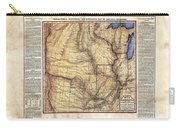 Historical Map Hand Painted Arkansaws Territory Carry-all Pouch